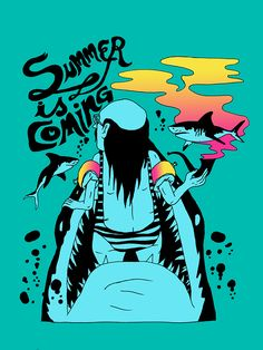 VO | Valérie Oualid : Agent d'illustrateurs | Ludwick Hernandez | Summer is coming Illustration, Comic Books, Comics, Cover, Artist, Summer, Summer Time, Artists, Illustrations