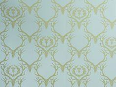 Deer Damask Wallpaper by Barnaby Gates | Nestlette