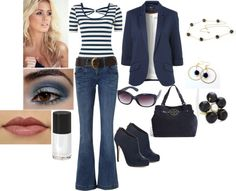 """In The Navy"" by itismebecky on Polyvore"
