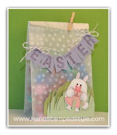 Sweet Easter Treat Bag with Punch Art Bunny created by Hand Stamped Style
