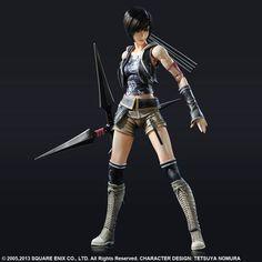 Final Fantasy: Yuffie Kisaragi Advent Children Play Arts Kai Action Figure (FFAC) - HobbyStuf