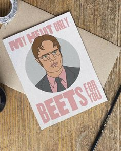 The Office Card - TV Show - Love Cards - Dwight Schrute Dunder Mifflin - Valentines Day Anniversary I Love You - Boyfriend Girlfriend #ad #theoffice #valentinesday #valentines
