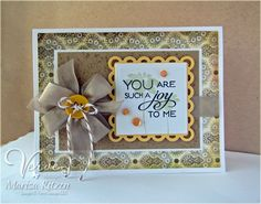 Hand stamped card by Marisa Ritzen using the Kind Words set from Verve. #vervestamps