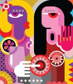 Modern Colourful Paintings from $27.99 | www.wallartprints.com.au #ModernArt