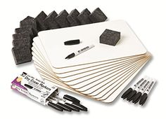 Charles Leonard Dry Erase Lapboard Class Pack Includes 12 each of Whiteboards 2 Inch Felt Erasers and Black Dry Erase Markers  35036 >>> Click image for more details.