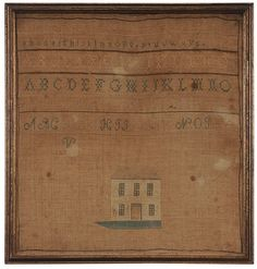 American 1829 House Needlework