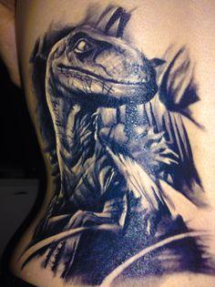 #Dinosaur, #Jurassic-Park, #Velociraptor #tattoo - Velociraptor