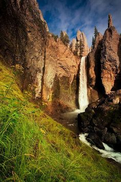 Tower Falls, Yellowstone National Park, California