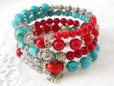 bohemian memory wire bracelet gypsy cuff bracelet bohemian