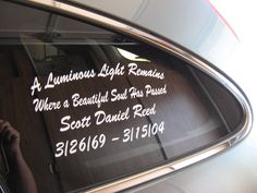 Customized Memorial Decals  In Memory of your loved ones