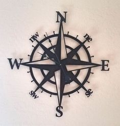 This beautiful Wall Clock has been powder coated in Copper Vein giving a nice contrast with the black clock hands. Measurements: W by H Requires 1 AA battery not included. *Please use caution Map Tattoos, Anchor Tattoos, Body Art Tattoos, Sleeve Tattoos, Tatoos, Simple Compass Tattoo, Compass Tattoo Design, Future Tattoos, Tattoos For Guys