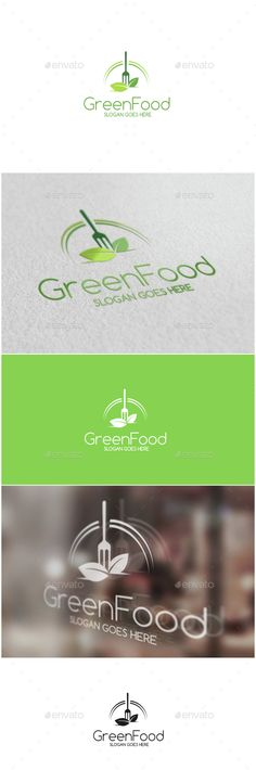 Green Food Logo Template Vector EPS, AI Illustrator. Download here: http://graphicriver.net/item/green-food-logo/15249521?ref=ksioks