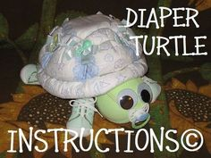 Easy baby shower ideas for girls and boys! Modern baby shower games that are actually fun, baby shower favors that won't get thrown away, and more! Turtle Diaper Cakes, Nappy Cakes, Unique Diaper Cakes, Sea Turtle Cakes, Regalo Baby Shower, Baby Shower Diapers, Baby Hospital Gifts, Diaper Cake Instructions, Diaper Cakes Tutorial