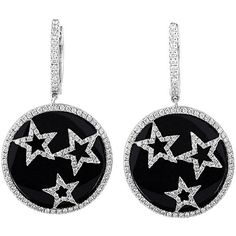 18K 0.95 Ct. Tw. Diamond Star Earrings (107.535 RUB) ❤ liked on Polyvore featuring jewelry, earrings, jewelry & watches, nocolor, white gold jewelry, white gold hoop earrings, earring jewelry, 18k earrings and hoop earrings