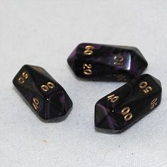 Crystal Shaped Swirly D100 10 Sided Dice (Purple)