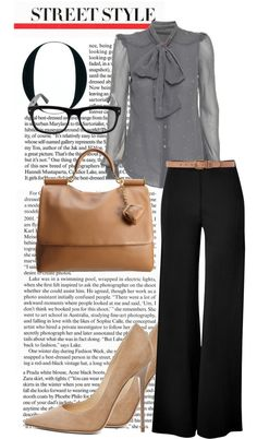 """""""The Perfect Interview Outfit"""" by roxcherie on Polyvore. I could do without the blouse. I have to pick something else. LOVE, LOVE, LOVE the pants!!!"""
