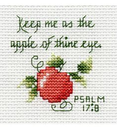 "Bucilla ® Counted Cross Stitch - Beginner Stitchery - Mini - Psalm Size: 2"" x 2"""