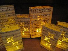 20 Sheet Music Lanterns Music Themed Wedding by Oldendesigns, $225.00