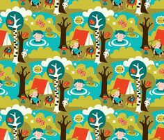 Spoonflower Fabric of the week voting: Camping