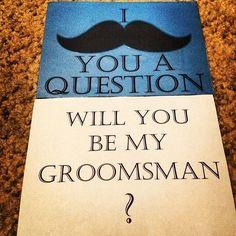 Groomsmen invitation too cute