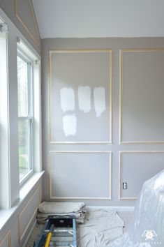 One Room Challenge- Week 2: Paneled Bedroom Walls and the Painting Begins!