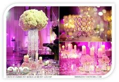 Lighting and entertainment provided by EMG.  Venue: The Westin Colonnade in Coral Gables  #centerpieces #flowers #décor #wedding #Westin Colonnade #Coral Gables @EMG Entertainment Management Group