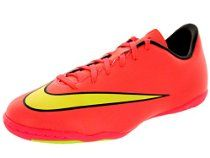 Nike Kids Jr Mercurial Victory V IC Indoor Soccer Shoe //  Description Get your head and feet into the game with the Mercurial Victory V IC soccer cleat, a shoe designed with a trophy touch, micro texture, and an internal cage that locks the foot down while providing a soft touch //   Details   Sales Rank: #55785 in Shoes  Color: HYPER PUNCH/BLACK/VOLT/MTLC GOLD COIN Brand: Nike Model: 651639 Fabr// read more >>> http://Jackie974.iigogogo.tk/detail3.php?a=B00LESLNPI
