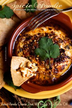 Baked Panela Cheese -- It Will Knock Your Socks Off!  | #cheese #mexican #spicy #partyfood #christmas #newyears #vegetarian