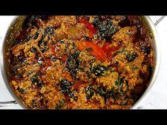 THE BEST NIGERIAN EGUSI SOUP RECIPE | EGUSI SOUP RECIPE : SISI JEMIMAH - YouTube All Nigerian Recipes, African Recipes, Ethnic Recipes, Egusi Soup Recipes, African Stew, Nigeria Food, Jollof Rice, Ethnic Food, Food N