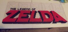 Legend of Zelda NES Logo Perler Beads WIP by kamikazekeeg on DeviantArt