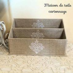 いいね!134件、コメント5件 ― minemineさん(@maison_de_toile_cartonnage.15)のInstagramアカウント: 「レターラック 生徒さんの作品 刺繍がきちんと並んで美しいです✨ このまま、何も入れずに置いておきたいかもー #カルトナージュ #cartonnage #cartonagem…」