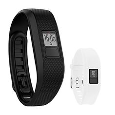 Garmin Vivofit 3 Activity Tracker Fitness Band  Regular Fit Black with Extreme Speed Silicone Replacement Wrist Band Strap White >>> Visit the image link more details.