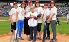 Geena Davis and five of her teammates got together for a mini A League of Their Own reunion at a softball game to cap the second annual Bentonville Film Festival, which Davis co-founded in 2015.