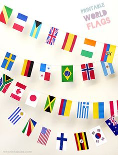 Printable World Flags - Mr Printables
