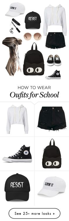 """Untitled #1"" by simmistyles on Polyvore featuring Monrow, SO, Chloé, Converse and Bobbi Brown Cosmetics"