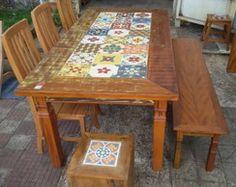 conjunto-de-mesa-de-jantar-mesa-de-jantar-com-ladrilho.jpg 244×194 pixels