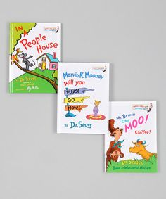 Take a look at this Mr. Brown Can Moo! Book Set by Dr. Seuss Boutique on #zulily today!