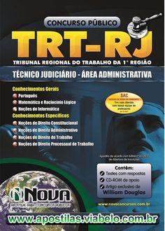 Concurso TRT RJ 2012 - Apostila Técnico Judiciário na Área Administrativa  (R$34.90)