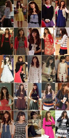 Character Fashion - Jessica Day.New Girl. Zooey Deschanel