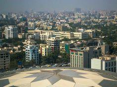 Mumbai city skyline.