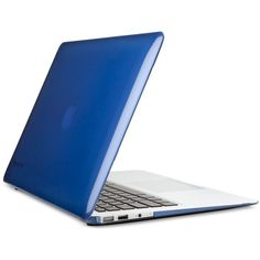 "Speck MacBook Air 13"" SeeThru Cover (65 AUD) ❤ liked on Polyvore featuring accessories, tech accessories and cobalt blue"
