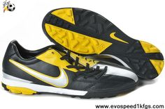 Star's favorite Nike Total90 Laser IV TF Black Yellow Silver Football Shoes Shop