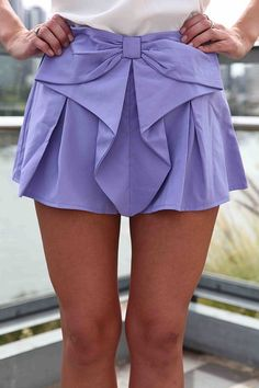 Bow Detail Skirt. by evangelina