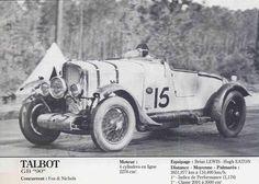 LE MANS 1930 - Talbot GB 90 #15