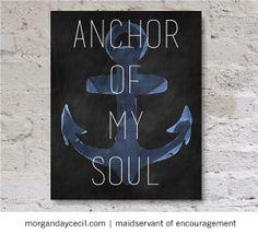 Hope as an Anchor Scripture Art Printable Anchor by MaidservantOf, $9.00