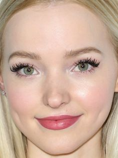 Close-up of Dove Cameron at the 2016 Make-Up Artists and Hair Stylists Guild Awards.