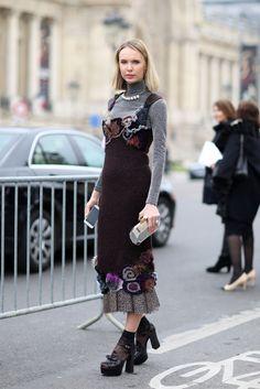 Mandatory Credit: Photo by Silvia Olsen/REX/Shutterstock (4515636bl) Street Style Street Style at Autumn Winter 2015, Paris Fashion Week, France - 10 Mar 2015