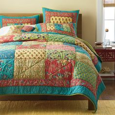 Mila Patchwork Quilt   The Company Store