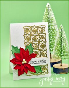 Stampin' Up! Poinsettia Petals Bundle & Many Medallions Dies - Judy May, Just Judy Designs, Melbourne