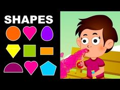 Shapes for Children to Learn with Cartoon Kid - Shapes for Kids to Learn - Kids Learning Videos - YouTube